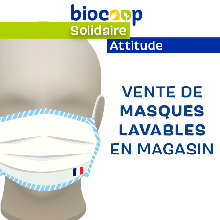 Vente de masques lavables en magasin